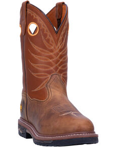 Dan Post Men's Foreman Western Work Boots - Round Toe, Brown, hi-res