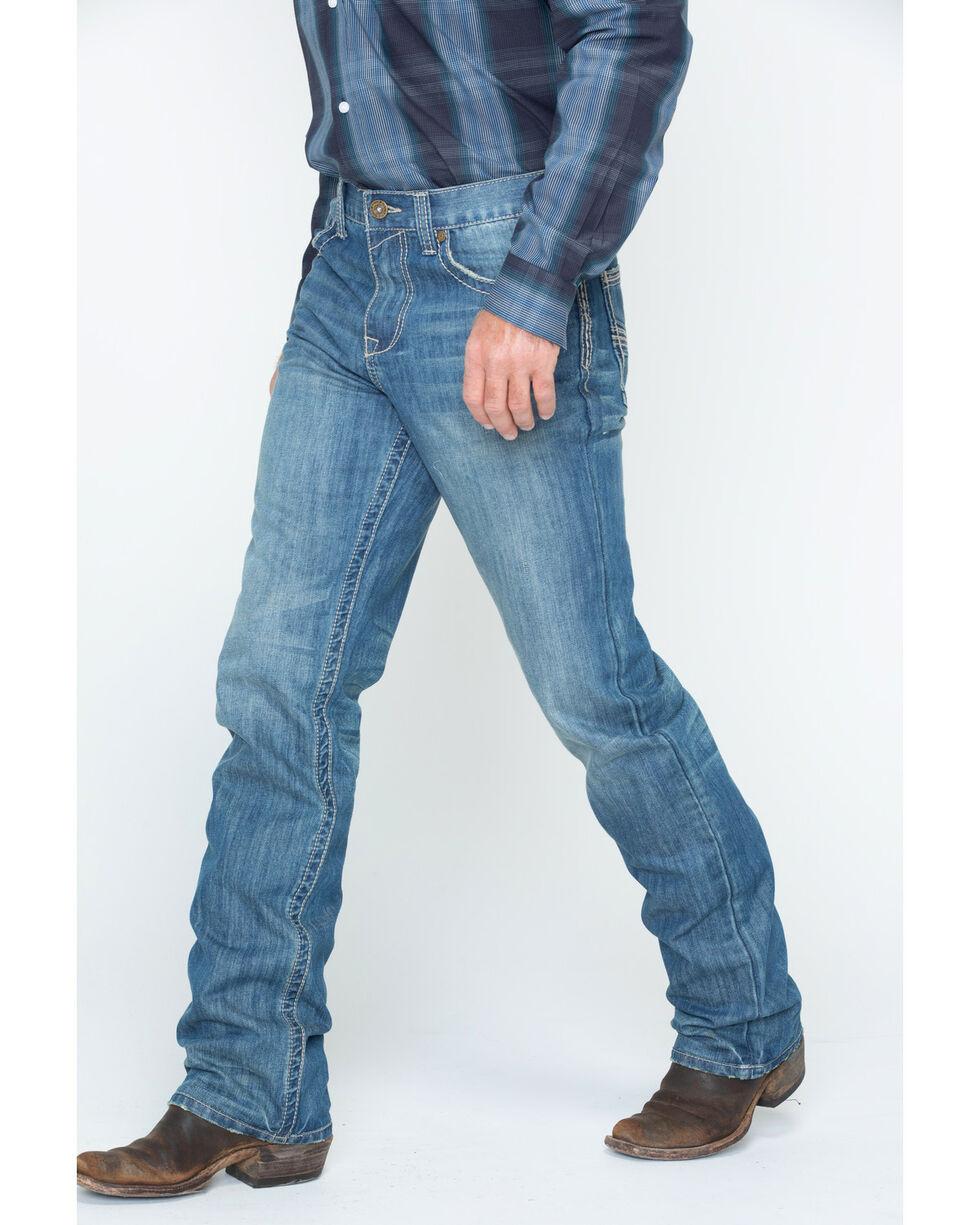 Cody James® Men's Whip Stitch Boot Cut Jeans, Blue, hi-res