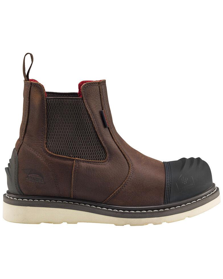 Avenger Men's Waterproof Romeo Wedge Work Boots - Carbon Toe, Brown, hi-res