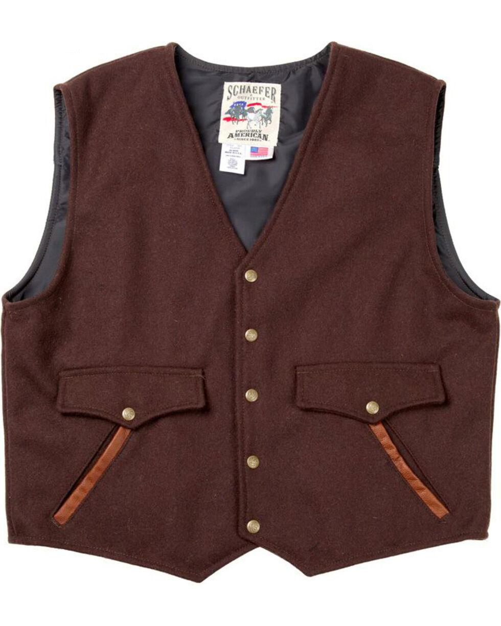 Schaefer Outfitter Men's Chocolate Stockman Melton Wool Vest - 3XL, Chocolate, hi-res