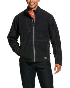 Ariat Men's Rebar Canvas Softshell Work Jacket - Big & Tall , Black, hi-res