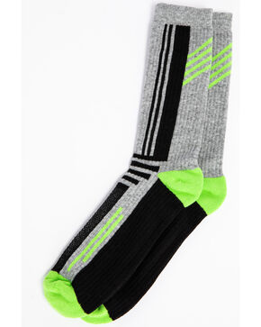 Cody James Men's Multi-Color Performance Crew Socks, Green, hi-res