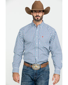 Ariat Men's Rockwood Plaid Long Sleeve Western Shirt, Multi, hi-res