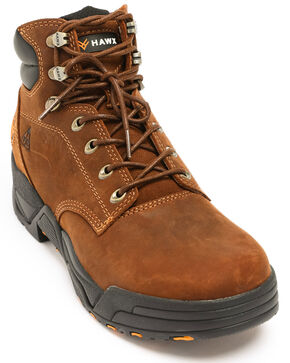 Hawx® Men's Brown Enforcer Lace-Up Work Boots - Round Toe, Brown, hi-res