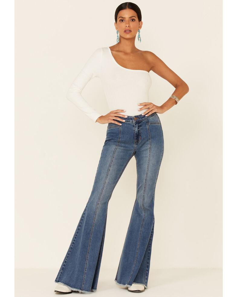 Panhandle Women's Light Wash Bargain Bell High Rise Flare Jeans , Light Blue, hi-res