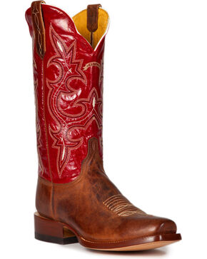 Cinch Men's Galaxias Gold Goat Western Boots - Square Toe, Rust, hi-res