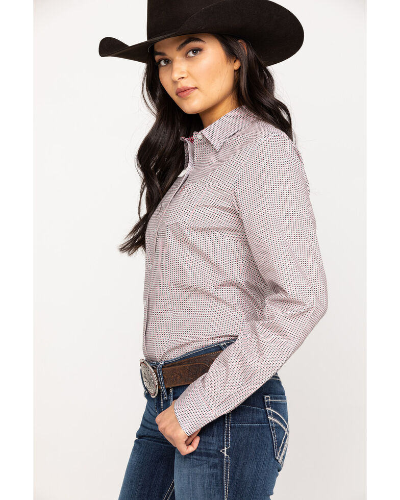 Cinch Women's Geo Print Button Down Long Sleeve Western Shirt, Multi, hi-res