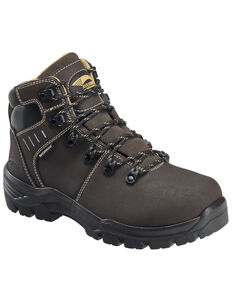 Avenger Women's Foundation Waterproof Work Boots - Composite Toe, Brown, hi-res