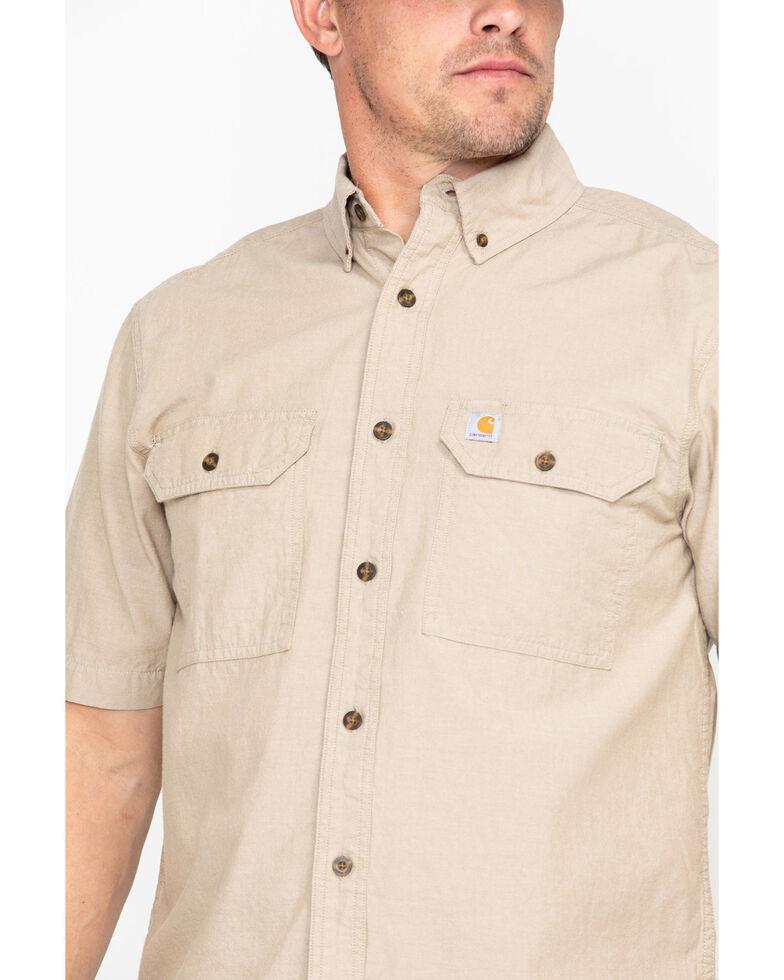 Carhartt Men's Short Sleeve Chambray Shirt, Tan, hi-res