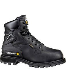 "Carhartt 6"" Black Work Boots - Composite Toe, Black, hi-res"