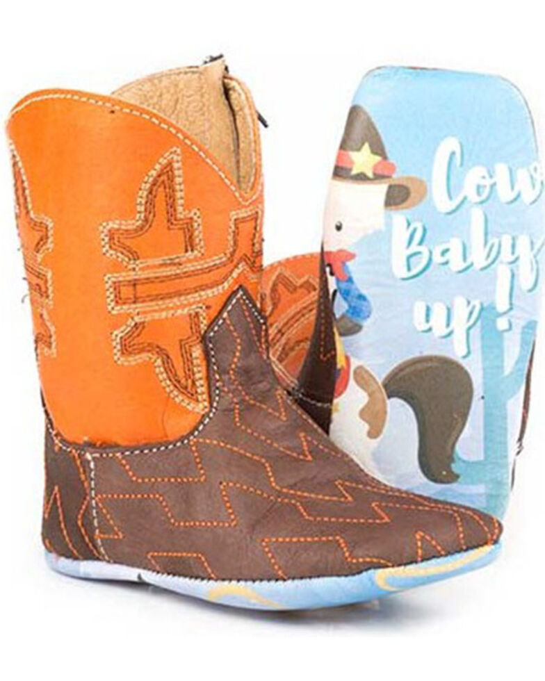 Tin Haul Infant Girls' Lil Horsepower Poppet Boots - Square Toe, Brown, hi-res