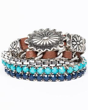 Shyanne Women's Isla Jane Concho 5 Piece Bracelet Set , Multi, hi-res