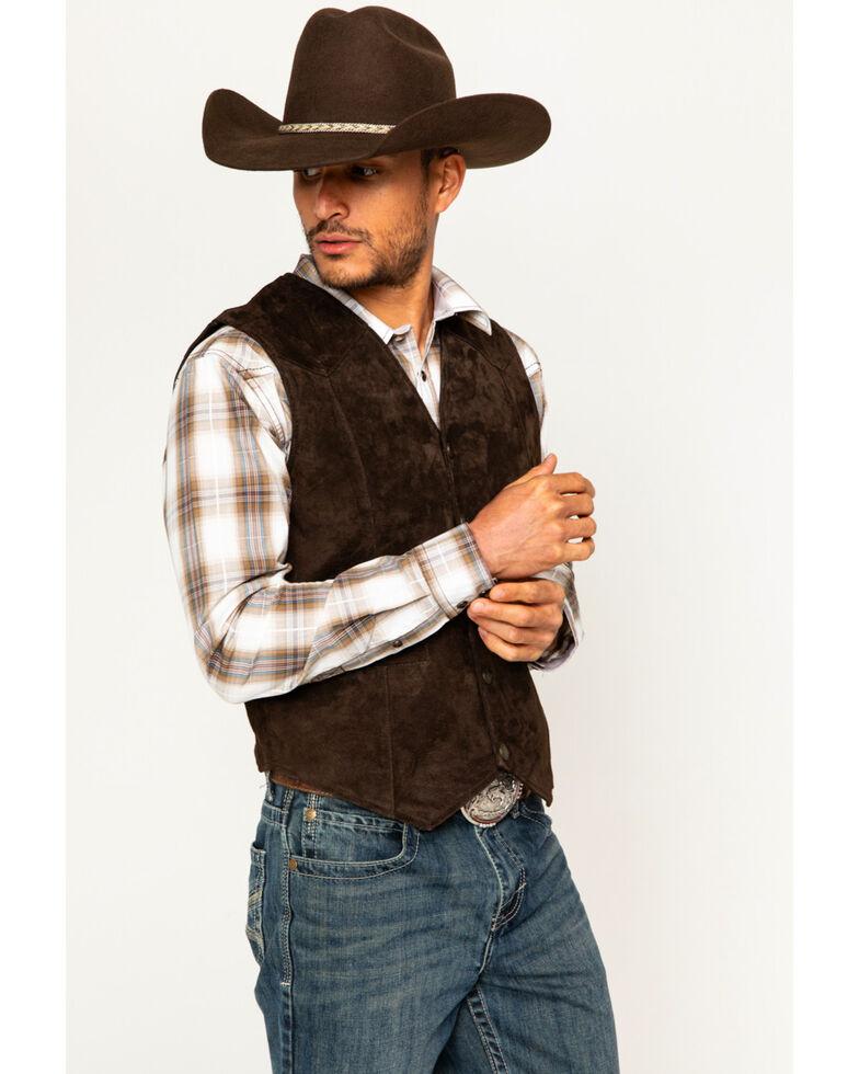 Cody James Men's Apparel Western Vests Leather, Brown, hi-res