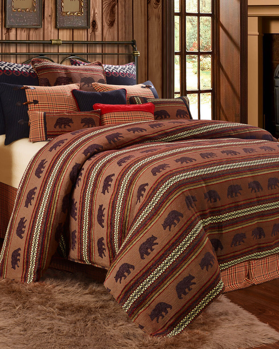 HiEnd Accents Bayfield Bear 4-piece Twin Duvet Set, Multi, hi-res