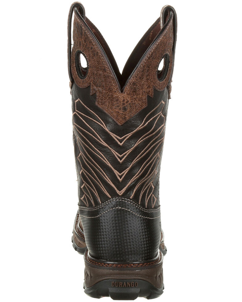 Durango Men's Maverick Waterproof Western Work Boots - Steel Toe, Brown, hi-res
