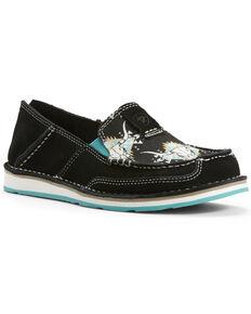 Ariat Women's Steer Head Cruiser Shoes - Moc Toe, Black, hi-res