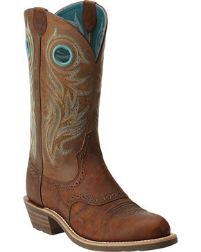Ariat Women's Shadow Rider Round Toe Western Boots, Brown, hi-res