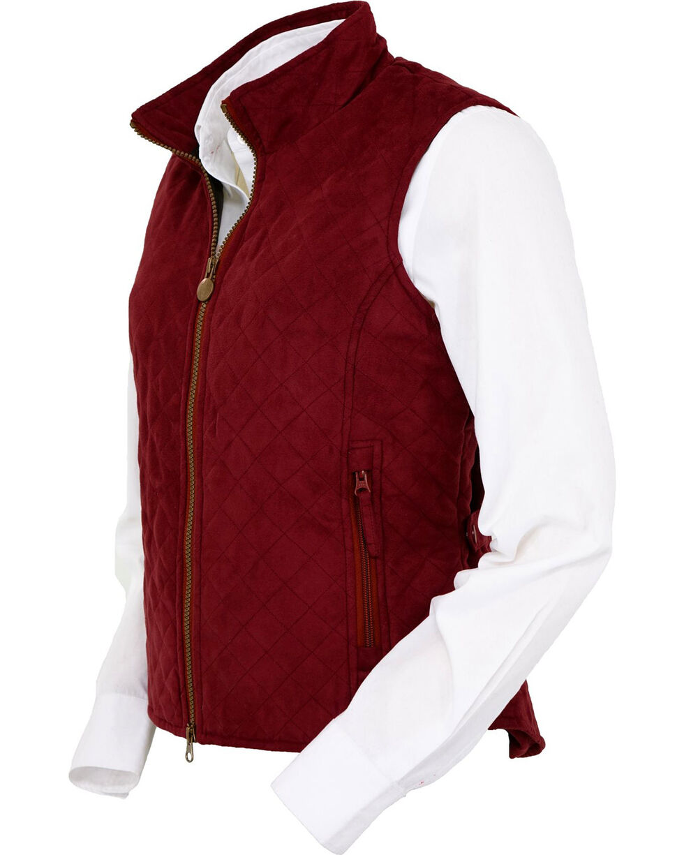 Outback Trading Co. Women's Wine Grand Prix Quilted Vest , Wine, hi-res