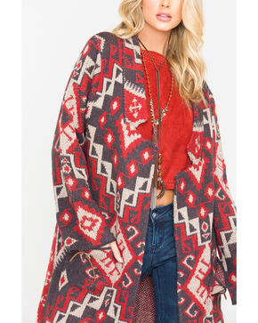 MM Vintage Women's Aztec Print Sweater , Multi, hi-res