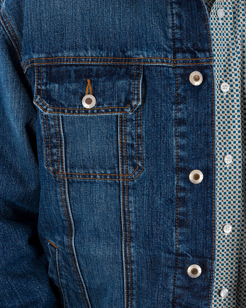 Cinch Men's Concealed Carry Denim Jacket, Indigo, hi-res