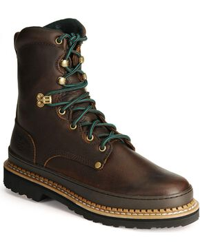 Georgia Men's Georgia Giant Safety Toe Work Boots, Brown, hi-res