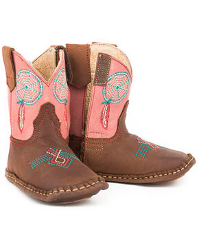 Roper Infant Boys' Dream Catcher Western Boots, Brown, hi-res