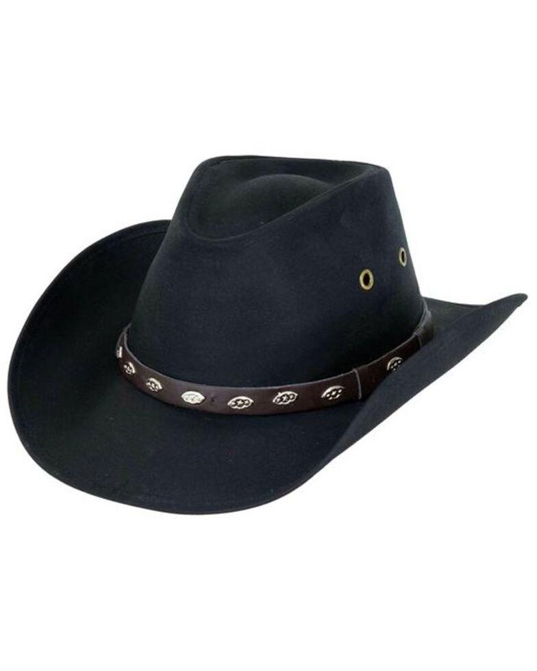 Outback Trading Co. Oilskin Badlands Hat, Black, hi-res