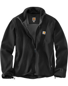 Carhartt Men's Pineville Softshell Jacket, Black, hi-res
