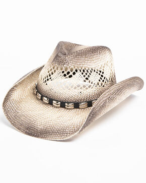 Cody James Men's Metal Hatband Cowboy Hat, Grey, hi-res