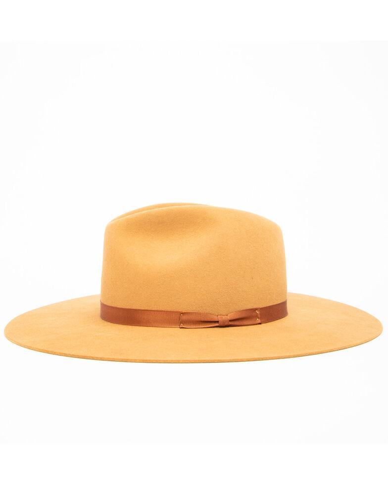 Rodeo King Women's 7X Tracker Pinch Front Fur Felt Hat , Camel, hi-res