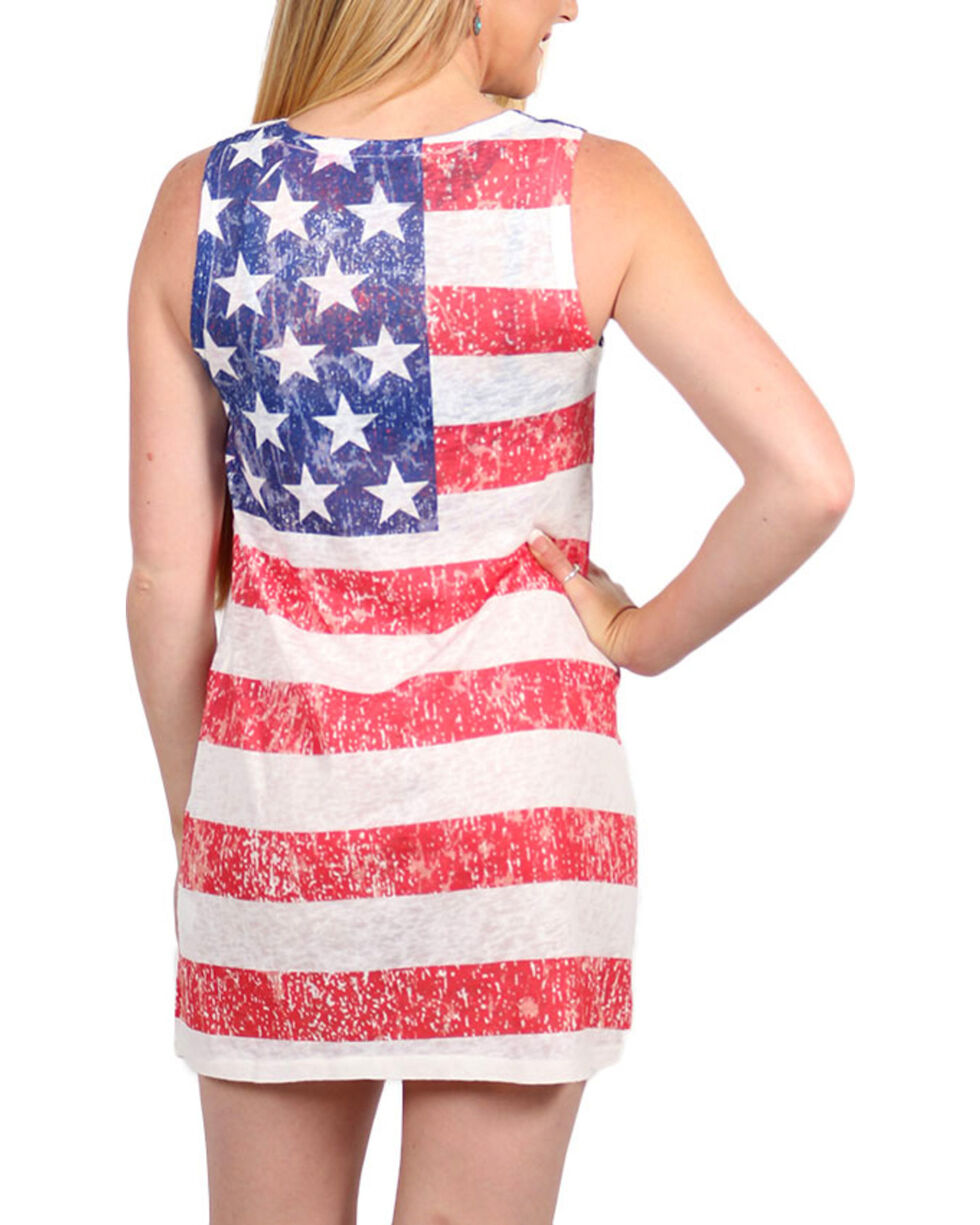 Moa Moa Women's American Flag Dress, Red/white/blue, hi-res