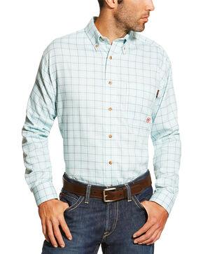 Ariat Men's Blue FR Rockford Work Shirt, Blue, hi-res