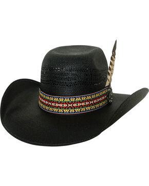 Bullhide Men's Rag Roper Black Straw Western Hat, Black, hi-res