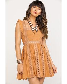 Free People Women's Verona Dress, Taupe, hi-res