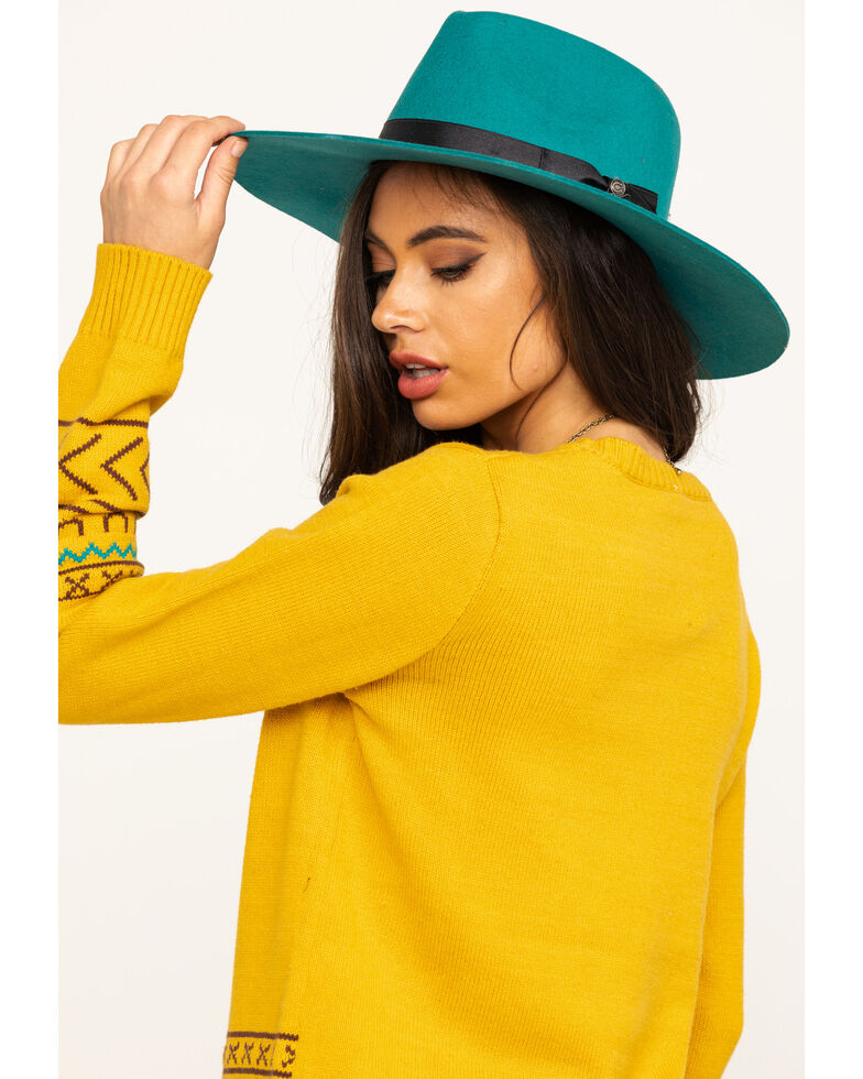 Cotton & Rye Outfitters Women's Mustard Steerhead Sweater , Dark Yellow, hi-res