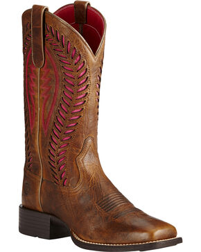 Ariat Women's Quickdraw Venttek Work Boots, Brown, hi-res
