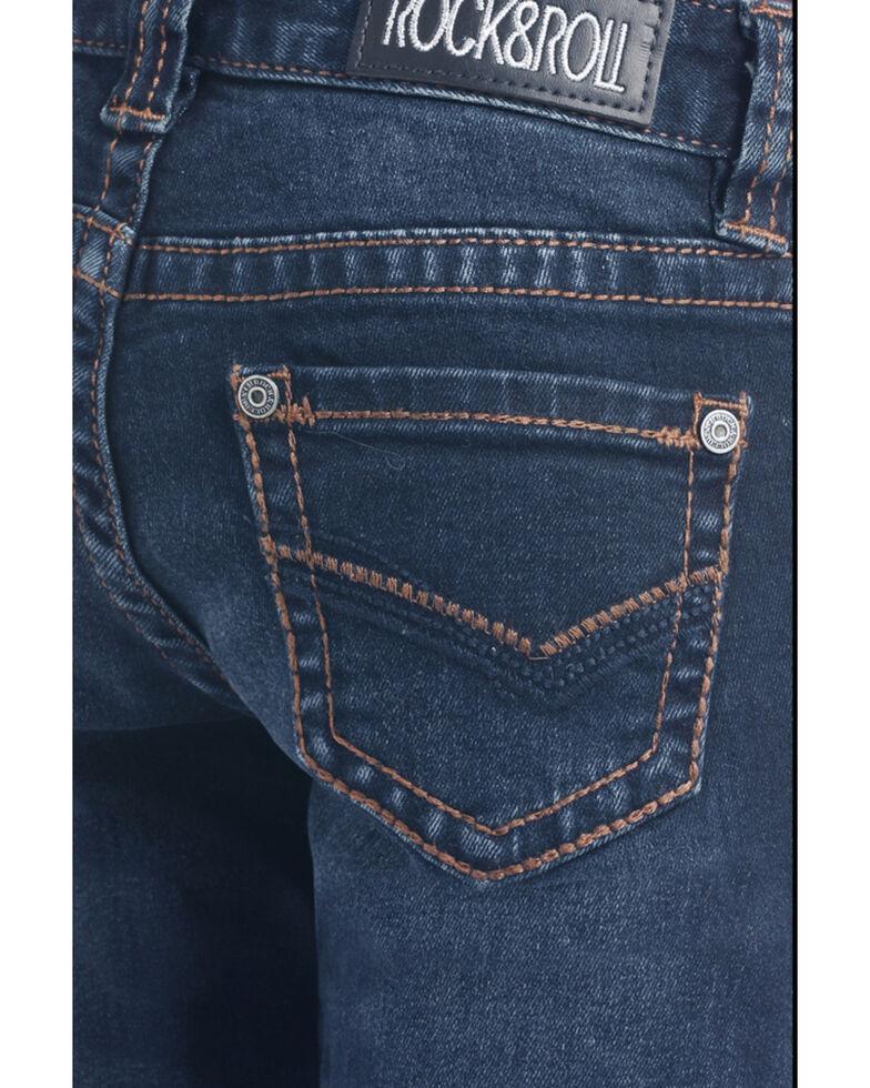 Rock & Roll Cowgirl Girls' Dark Wash Trousers, Blue, hi-res