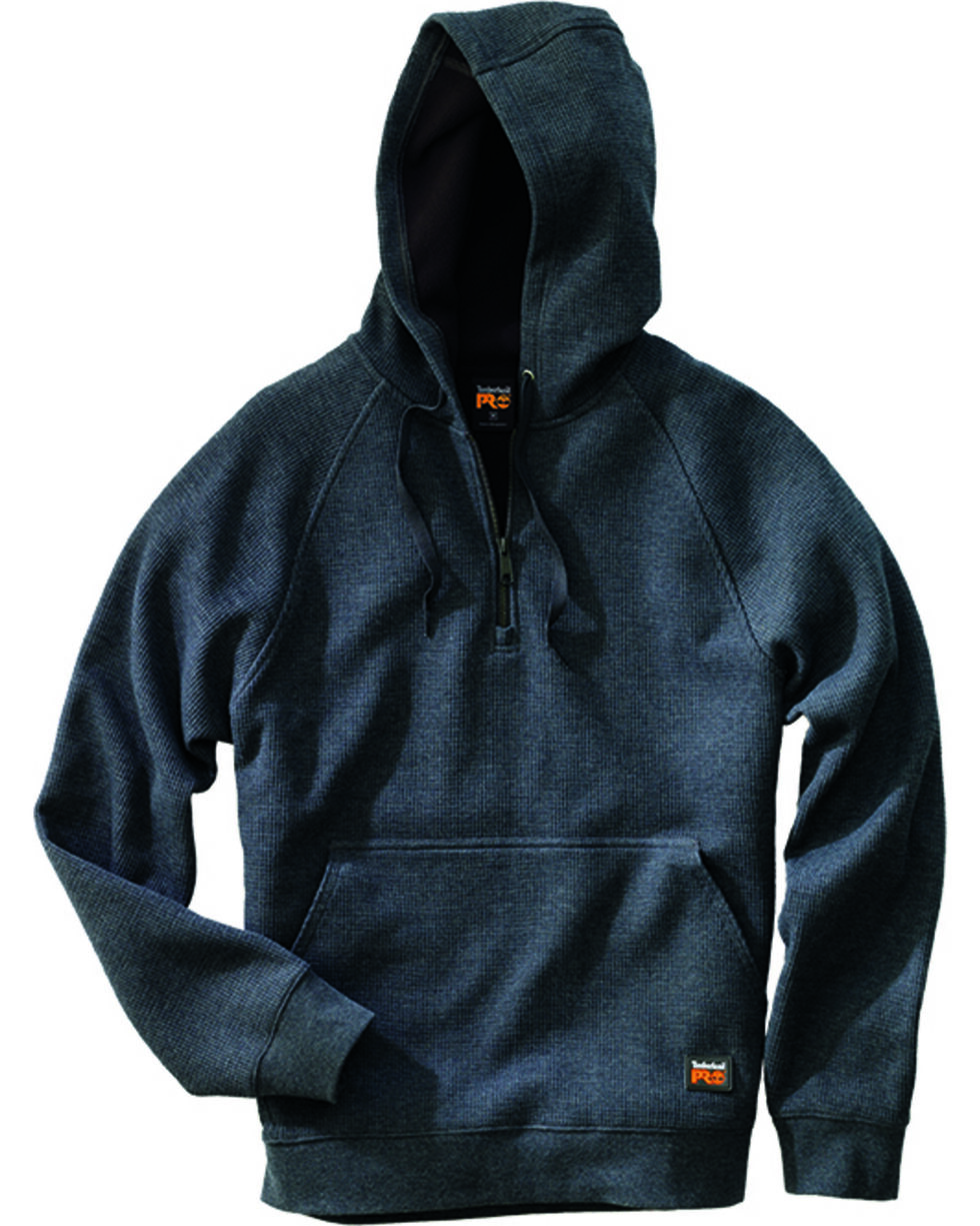 Timberland Pro Men's Downdraft Thermal Hoodie, Charcoal Grey, hi-res