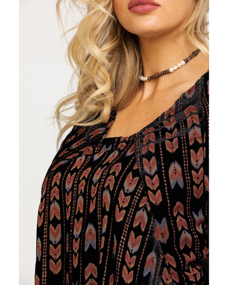 Miss Me Women's Arrow Velvet Burnout Dress , Black, hi-res