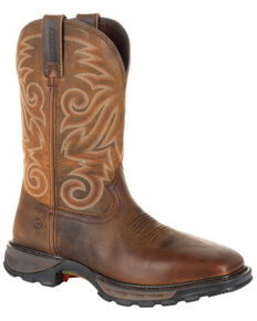 Durango Men's Maverick XP Waterproof Western Work Boots - Steel Toe, Brown, hi-res