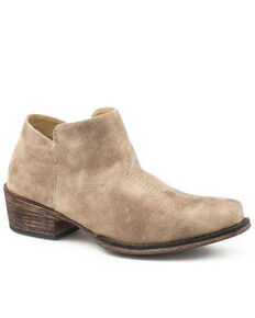 Roper Women's Vintage Beige Fashion Booties - Snip Toe, Tan, hi-res