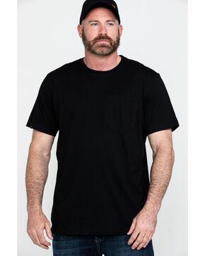 Hawx® Men's Black Pocket Crew Short Sleeve Work T-Shirt - Tall , Black, hi-res