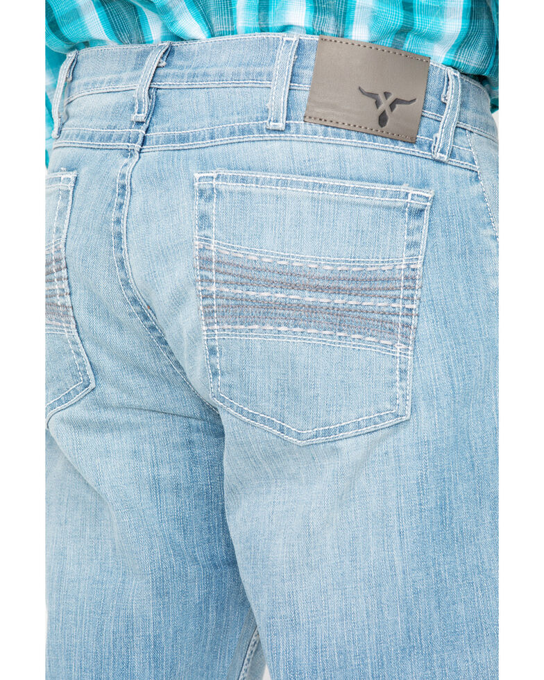 53f6a1e41f6 Zoomed Image Wrangler 20X Men's Roanoke Boot Cut Jeans, Blue, hi-res