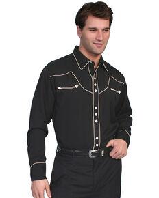 Scully Black Vintage Western Shirt, Black, hi-res