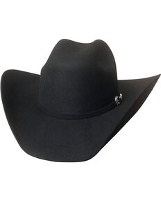 Bullhide Men's Big Boss 8X Beaver Fur Blend Cowboy Hat , Black, hi-res