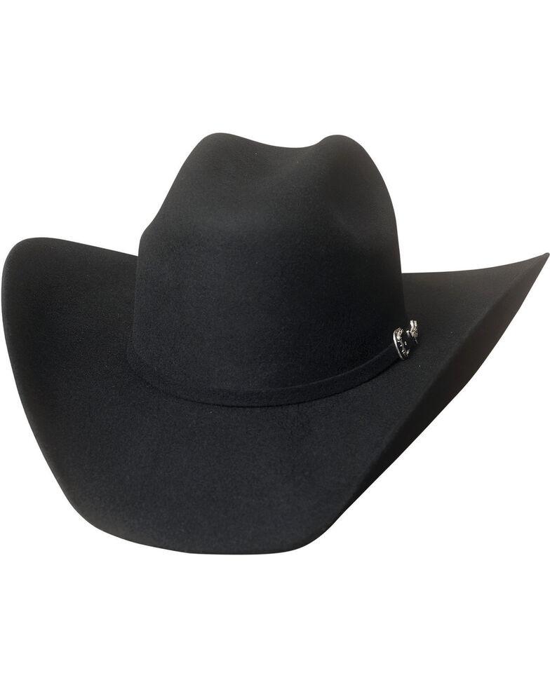 Bullhide Men's Big Boss 8X Beaver Fur Blend Cowboy Hat , Black, hi-res