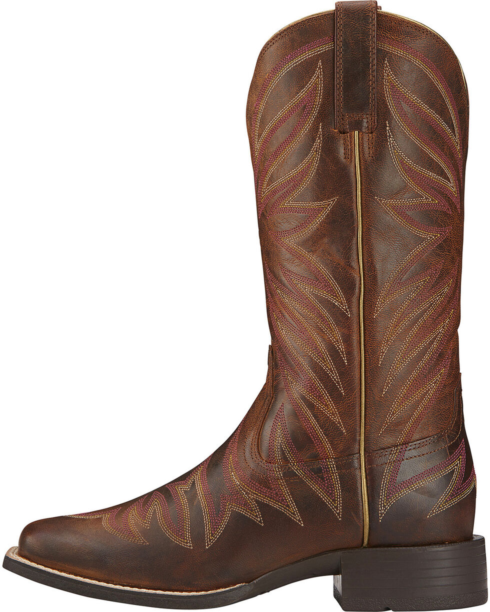 Ariat Women's Brilliance Performance Western Boots, Brown, hi-res