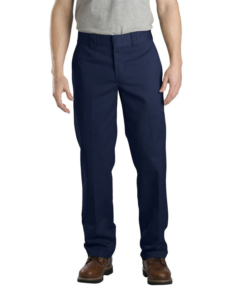 Dickies Slim Straight Work Pants, Navy, hi-res