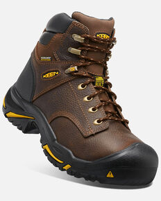 Keen Men's Mt. Vernon Waterproof Work Boots - Round Toe, Brown, hi-res