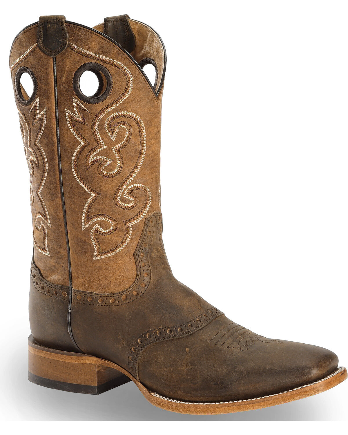 black friday deals boot barncody james men\u0027s brown saddle vamp western boots square toe